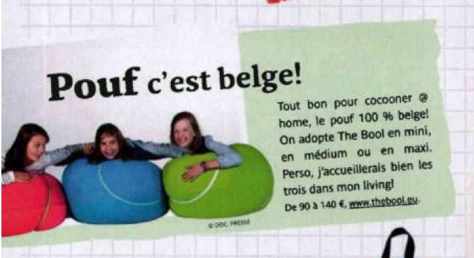 pouf c'est belge the bool poufs